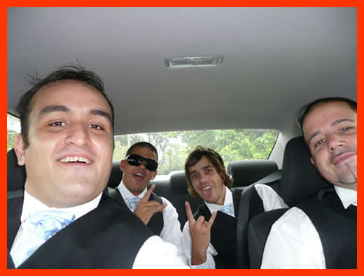 Wedding Day…. The Groom (on the right) and his merry men.